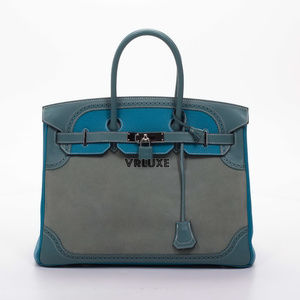 Hermès Birkin 35 Grizzly Doblis Evercolor Bag